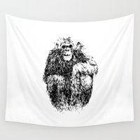 ape Wall Tapestries featuring Simple Ape by Christopher Hurtig