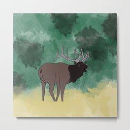 Bull Elk Bugling Metal Print