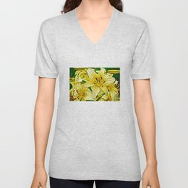 Yellow Tiger Lilies - The Flower Collection Unisex V-Neck