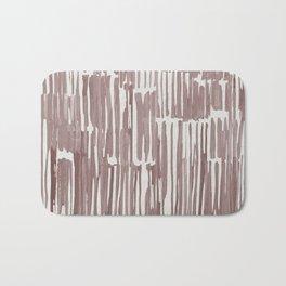Simply Bamboo Brushstroke Red Earth on Lunar Gray Bath Mat