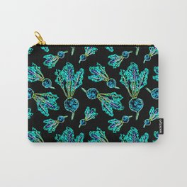 Feel the Beet in Skillet Black + Electric Neon Lettuce Carry-All Pouch