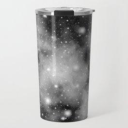 Black & White Galaxy Nebula Dream #1 #decor #art #society6 Travel Mug