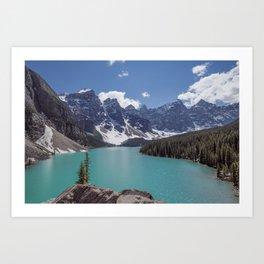 Lake Moraine Top View Art Print