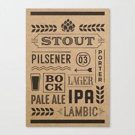 Type beer Canvas Print
