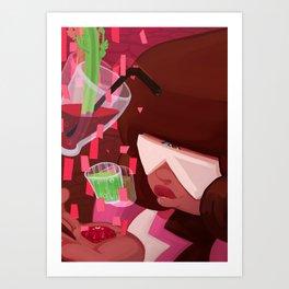 Garnet's shots Art Print