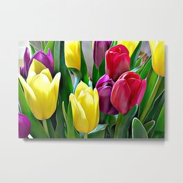 Tulips From Amsterdam Metal Print