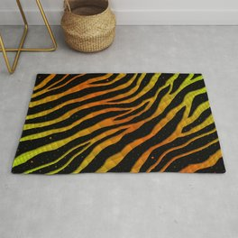 Ripped SpaceTime Stripes - Lime/Orange Rug