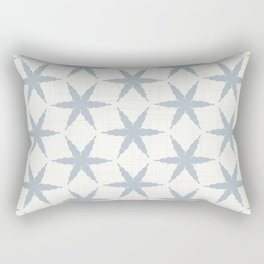 Farmhouse French Blue Country Linen Star Pattern Rectangular Pillow