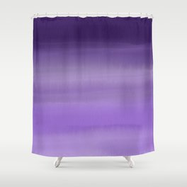 Modern painted purple lavender ombre watercolor Shower Curtain