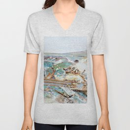 John Singer Sargent - A Wrecked Tank - Digital Remastered Edition Unisex V-Neck