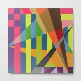 """Fractal #26"" Montana Gold Spray Paint on birch panel 16"" x 16"" x 1.5"" *Original Sold. Metal Print"