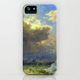 Lighthouse, Ostende - Hermann Ottomar Herzog iPhone Case