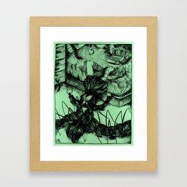 centipede print (1 of 2) Framed Art Print