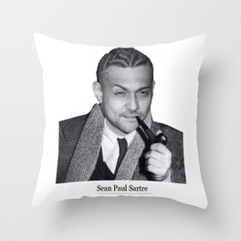 Sean Paul Sartre Throw Pillow