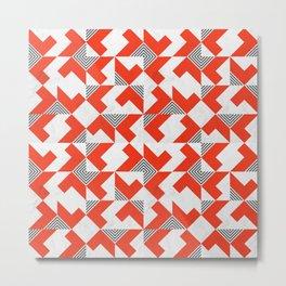 Marble Red Blocks Metal Print