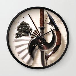 Martial Arts Weapon Wall Clock