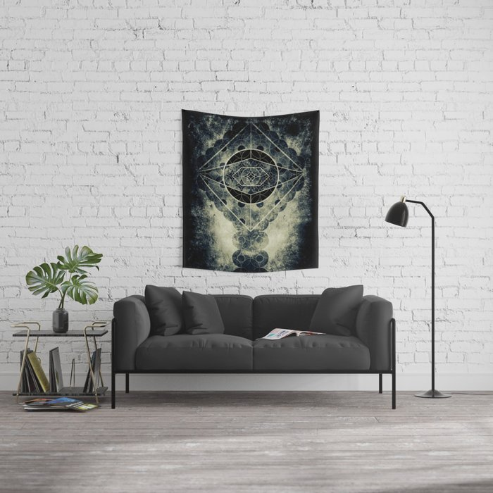 Sacred Geometry for your daily life -  SATURN EYE Wall Tapestry