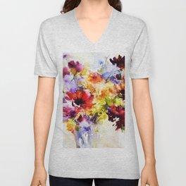 Floral Art Unisex V-Neck