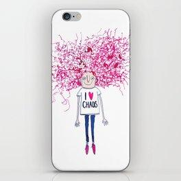 I love Chaos iPhone Skin