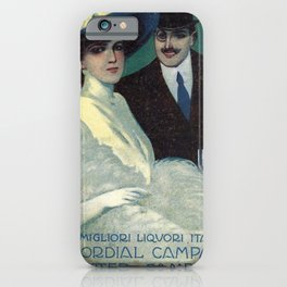 Vintage 1910 Campari Advertisement by Gian Emilio Malerba iPhone Case