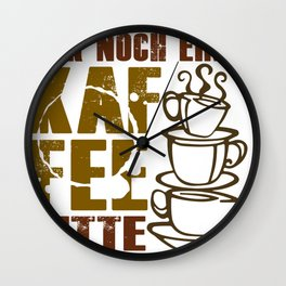 Coffee loved by caffeine lovers Wall Clock