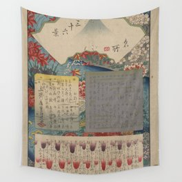 Hiroshige - 36 Views of Mount Fuji (1858) - 00: Table of Contents Wall Tapestry