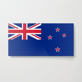 National flag of New Zealand - Authentic version (scale and color) High Quality image Metal Print