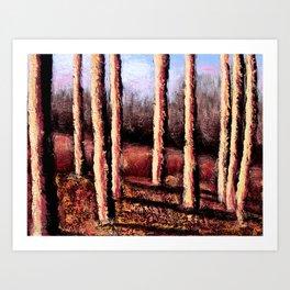 Bright Autumn Woods Art Print
