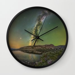 Milky waway over loch lomond Wall Clock