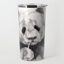 Panda black white Travel Mug