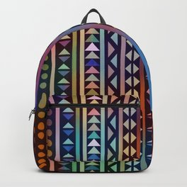 Colorful Tribal Stripes and triangles Pattern Backpack