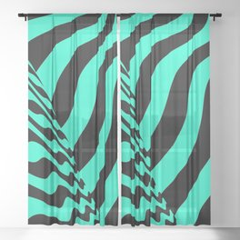 sudden change. minty Sheer Curtain