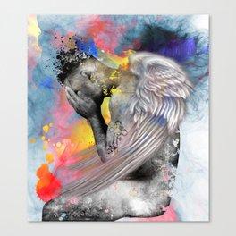 angel male nude Canvas Print