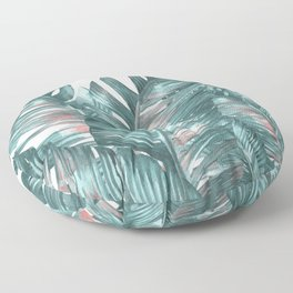 tropical blue Floor Pillow