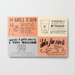 Italian For My Girlfriend poster Metal Print