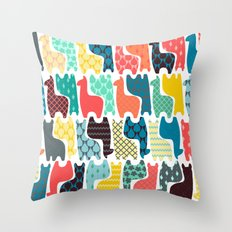 baby llamas Throw Pillow