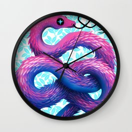 Cotton Candy Snake Wall Clock