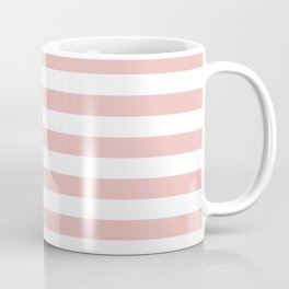 Blush & White Stripes Coffee Mug