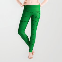 Library Card BSS 28 Green Leggings