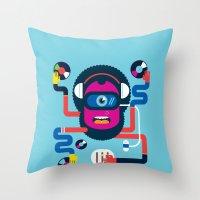 dj Throw Pillows featuring DJ by Katboy 7