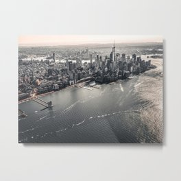 The Gray Cityscape of New York (Color) Metal Print