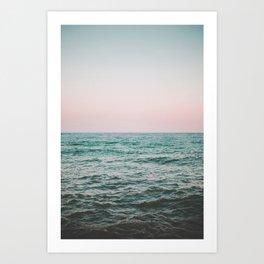 blush ocean Art Print