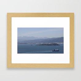 Ferry Blue Framed Art Print