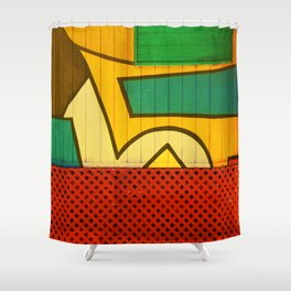 Jamaican Wall Shower Curtain