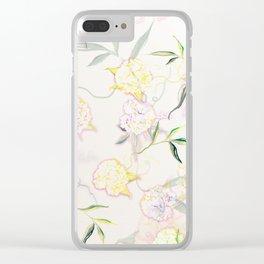 Pastel Hydrangea Clear iPhone Case