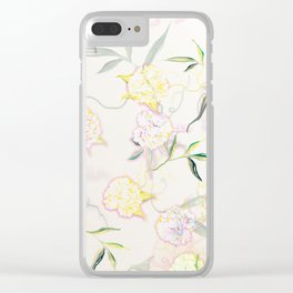 Pastel Hydrangea Clear iPhone Case