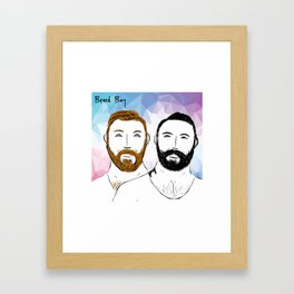 Beard Boy: Buttons and Snaps Framed Art Print
