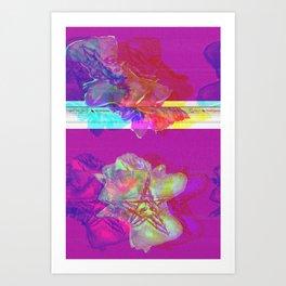 gLICHKING will hug __u (forced collaboration w/ Resn & Alea Bushardt) Art Print