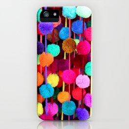 Rainbow Pom-poms (Horizontal) iPhone Case