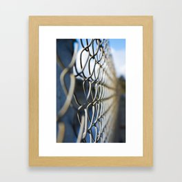 Fanciful Fence Framed Art Print